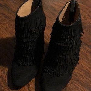 Black Suede 33/4 in booties